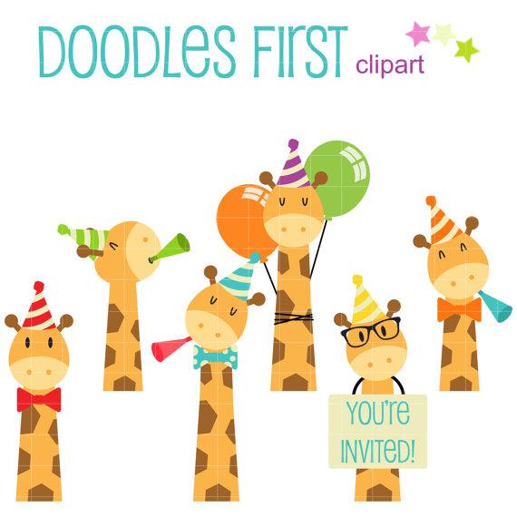 Pin by io on. Giraffe clipart birthday