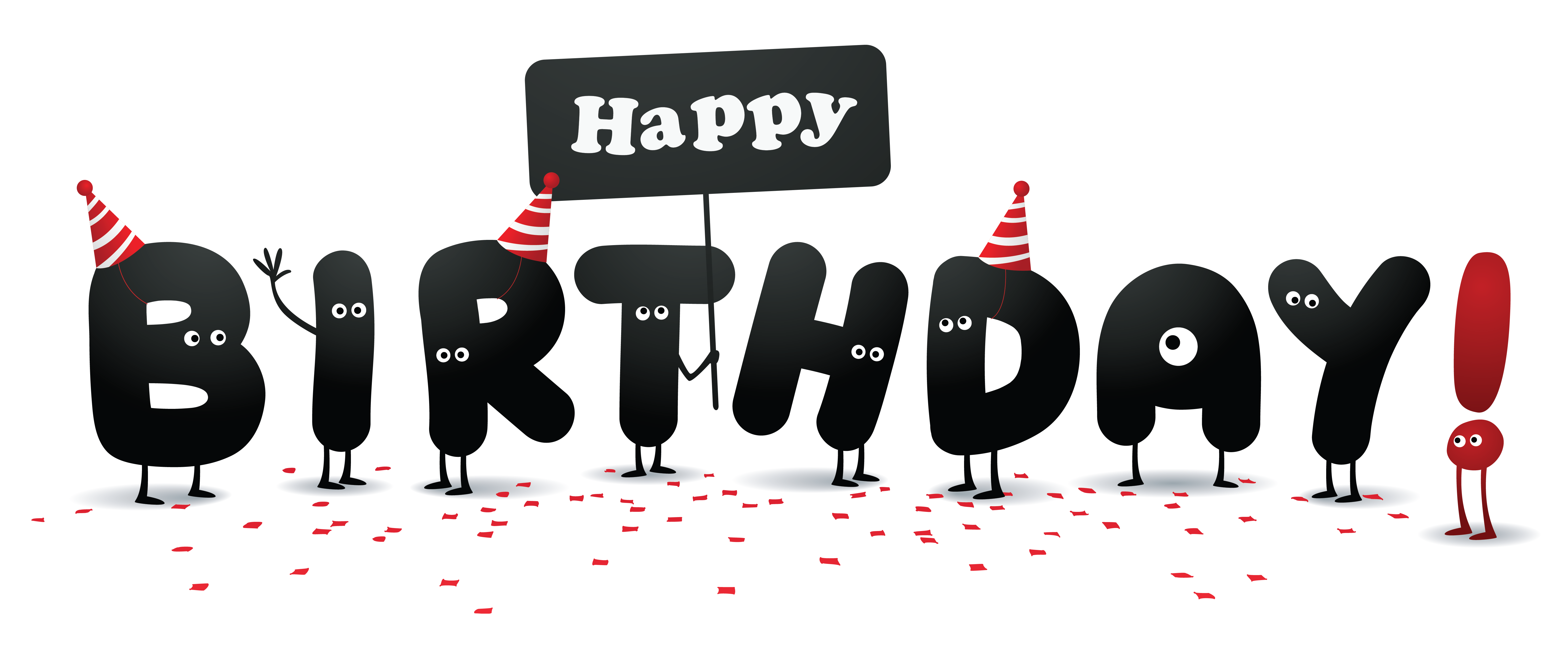 Free birthday funny card. Number 3 clipart happy