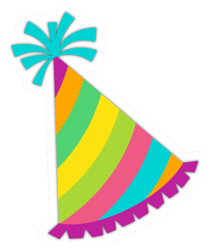 Horn clipart celebration. Party hat birthday clip