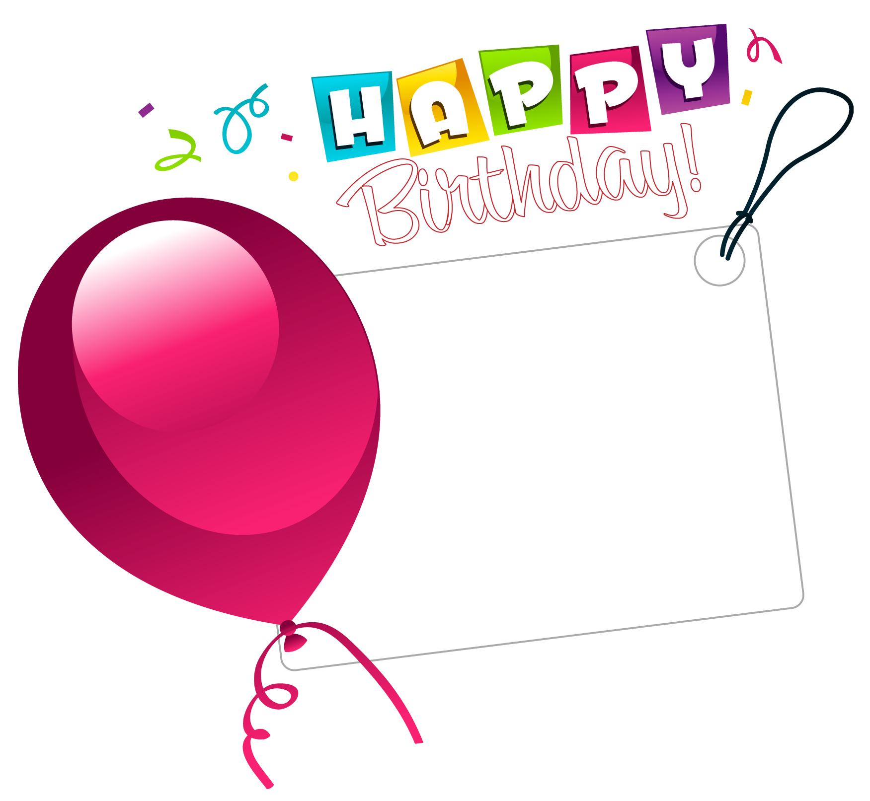 Happy transparent sticker with. Clipart birthday heart