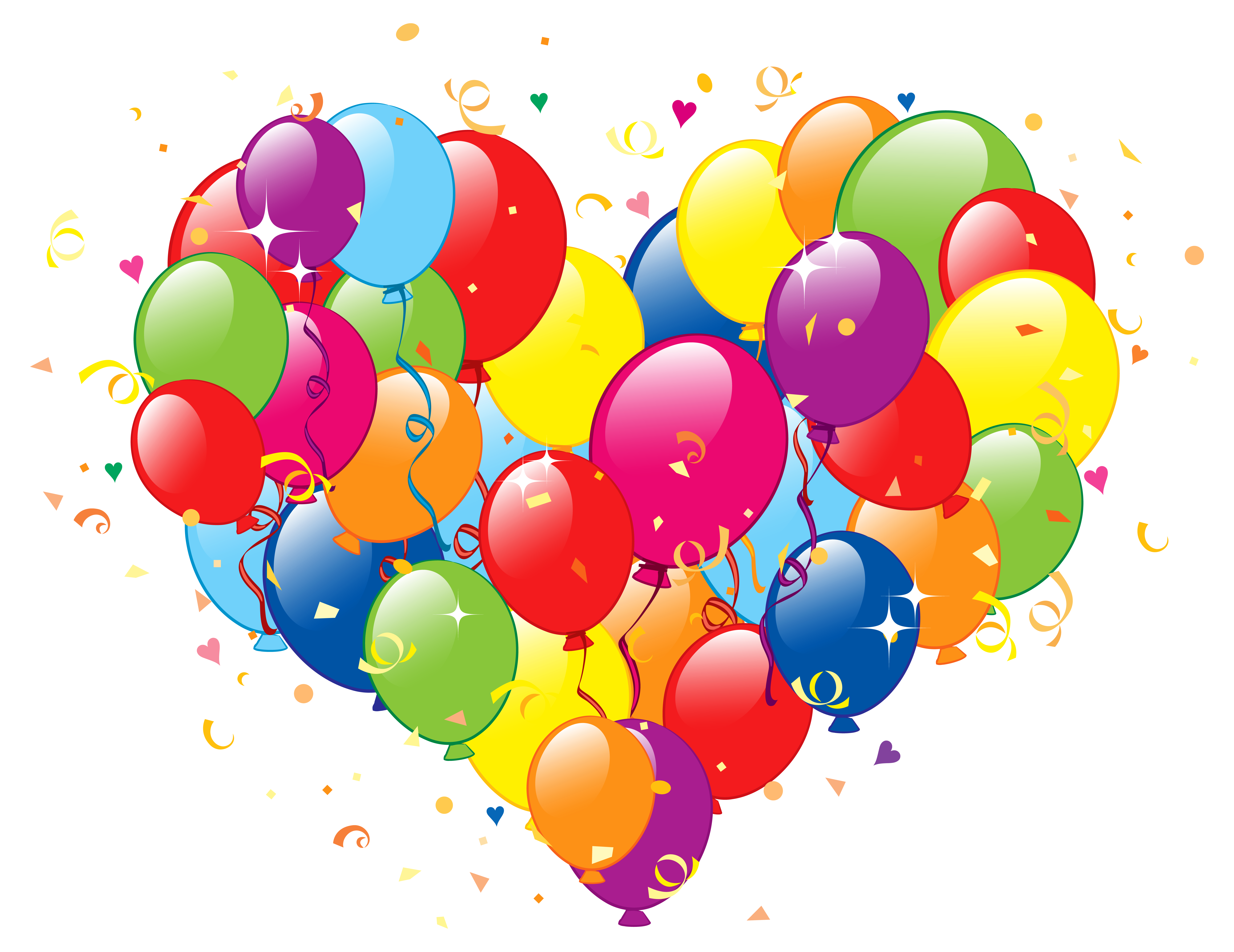 Of balloons png image. Clipart birthday heart