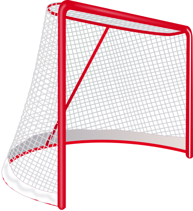 Hockey clipart hokey. And animations goalie net
