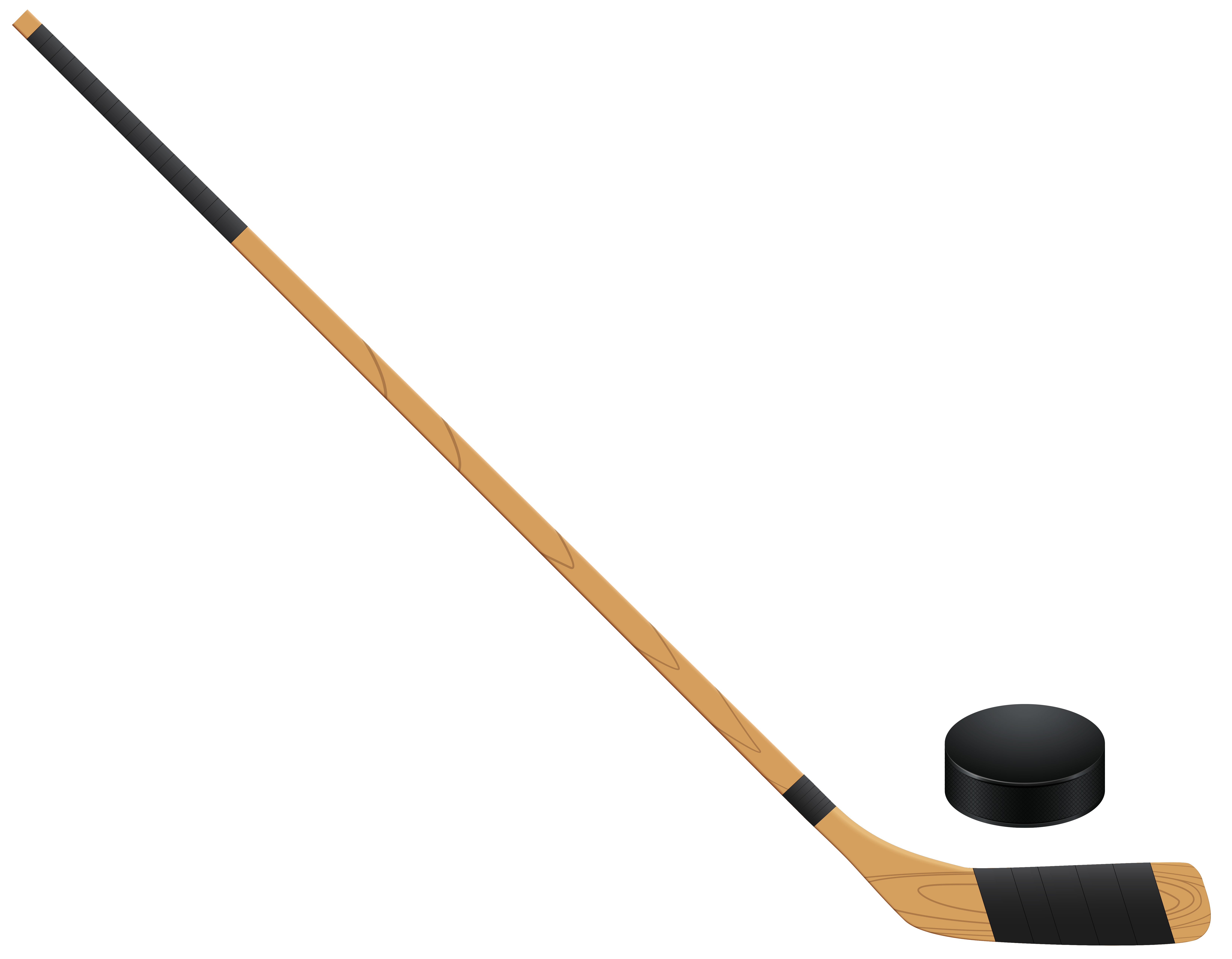 Hockey clipart bat. Stickand puck png clip