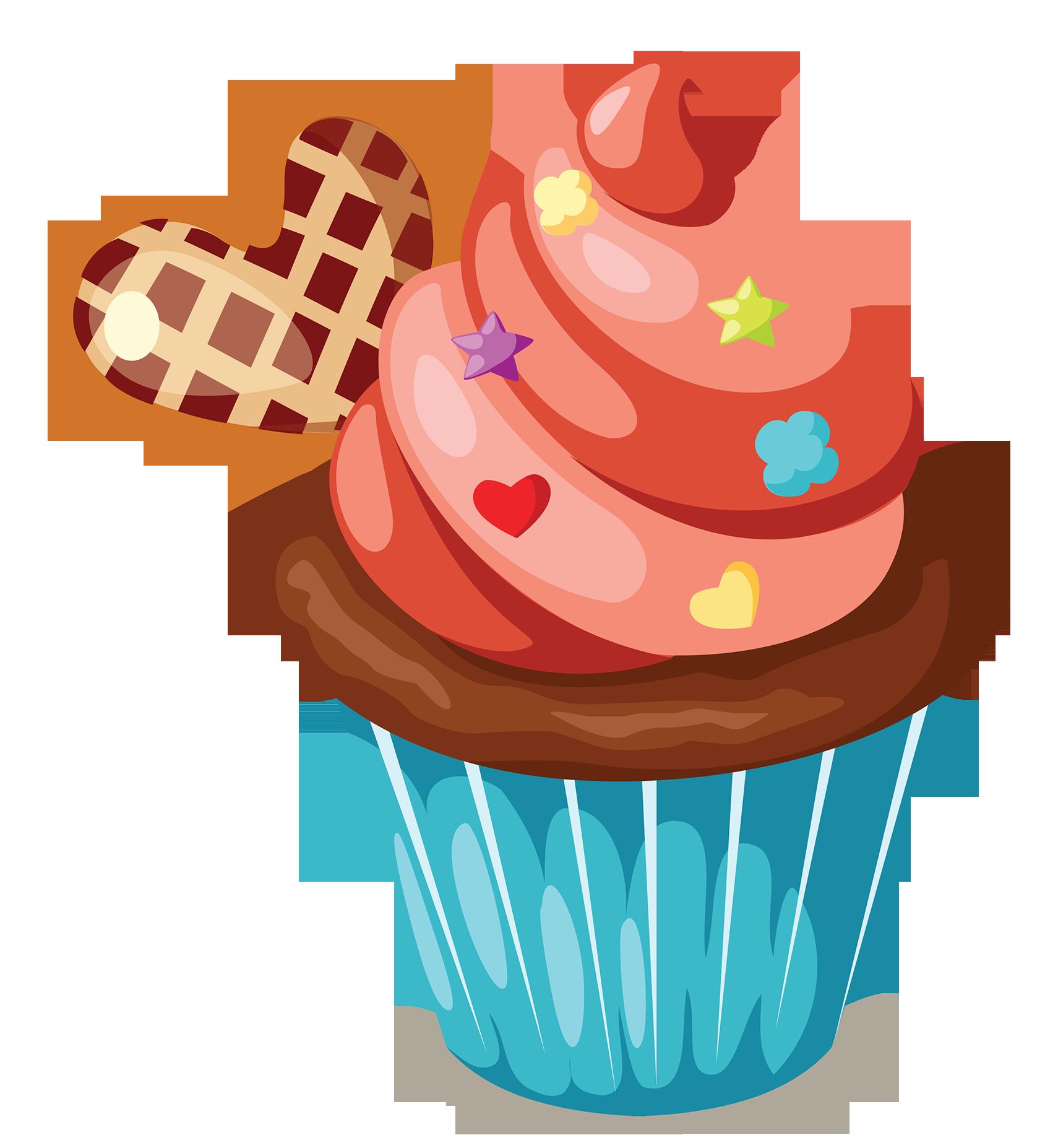 Watermelon clipart cupcake. Icing birthday cake muffin