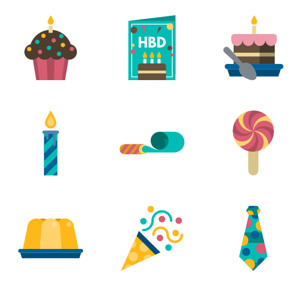 Cake icons free vector. Clipart birthday icon