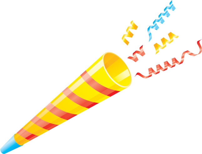 Streamers clipart party horn. Free cliparts download clip