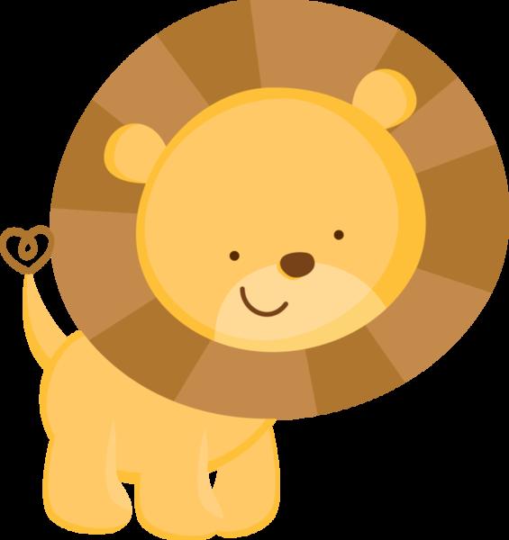 Animales de la selva. Clipart lion birthday