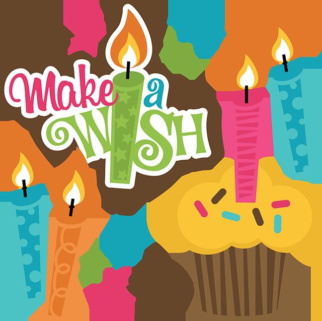 Make clipart cake. A wish girl cuttable