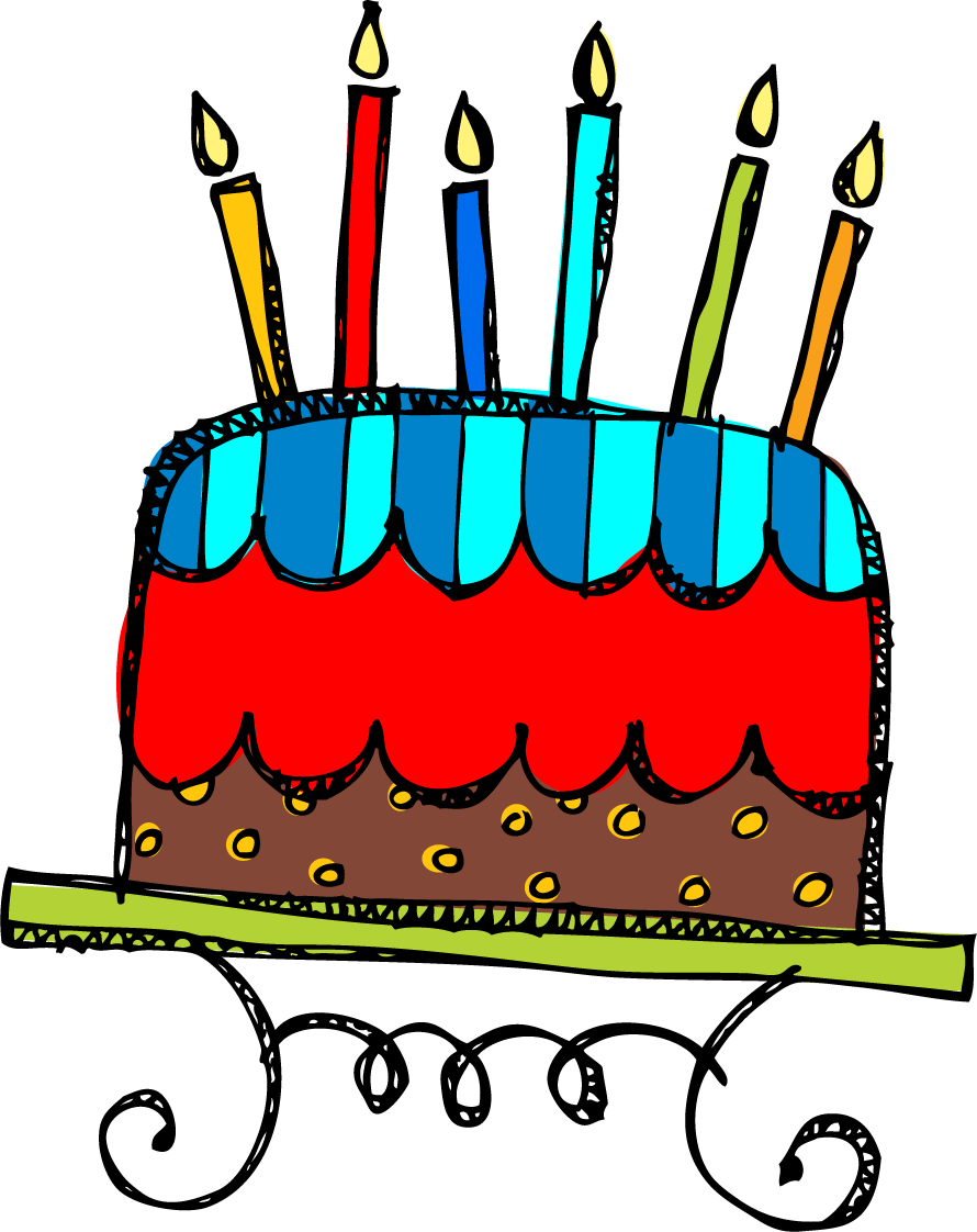 Clipart cat birthday cake. Free clipartix