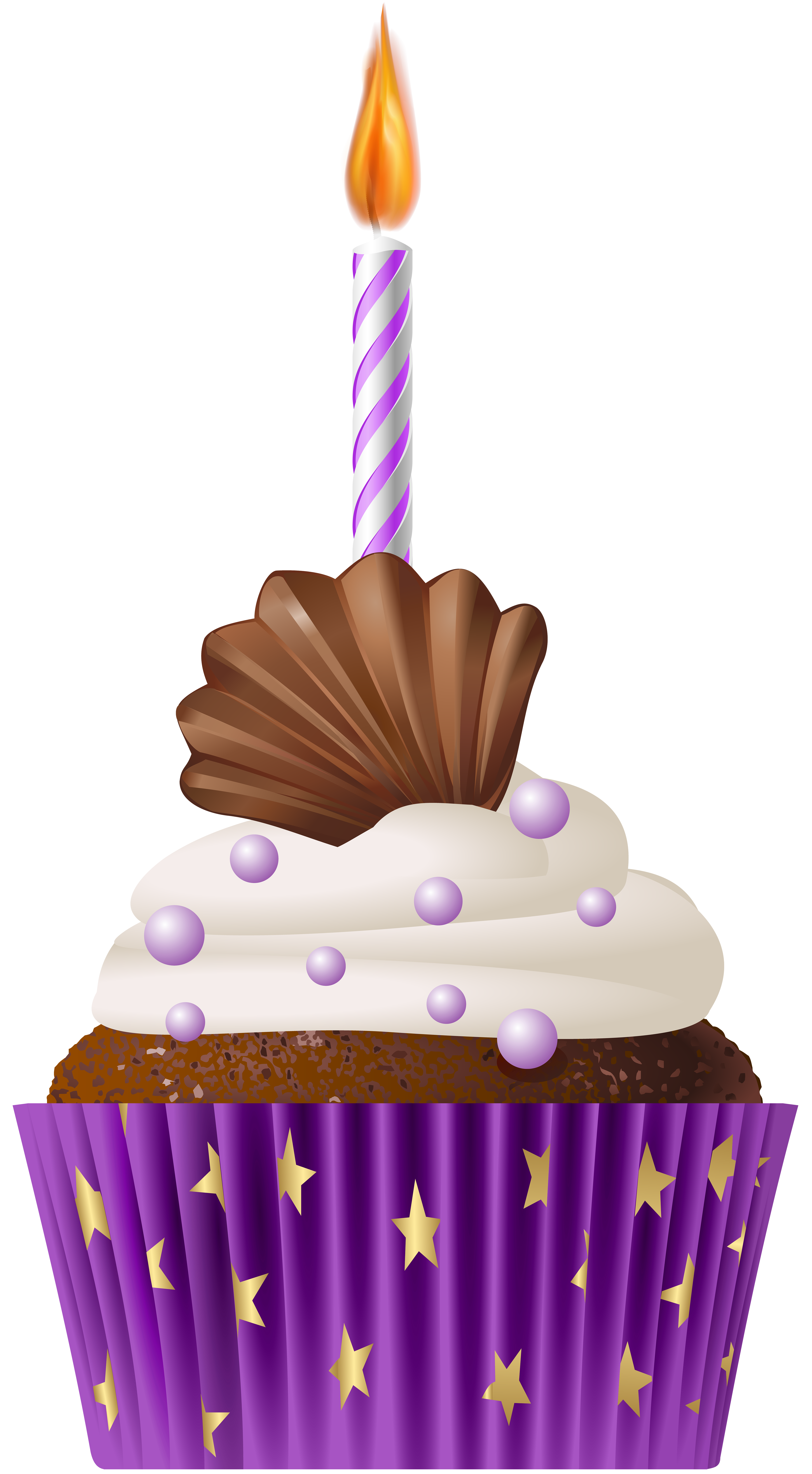Birthday muffin purple with. Muffins clipart ckae