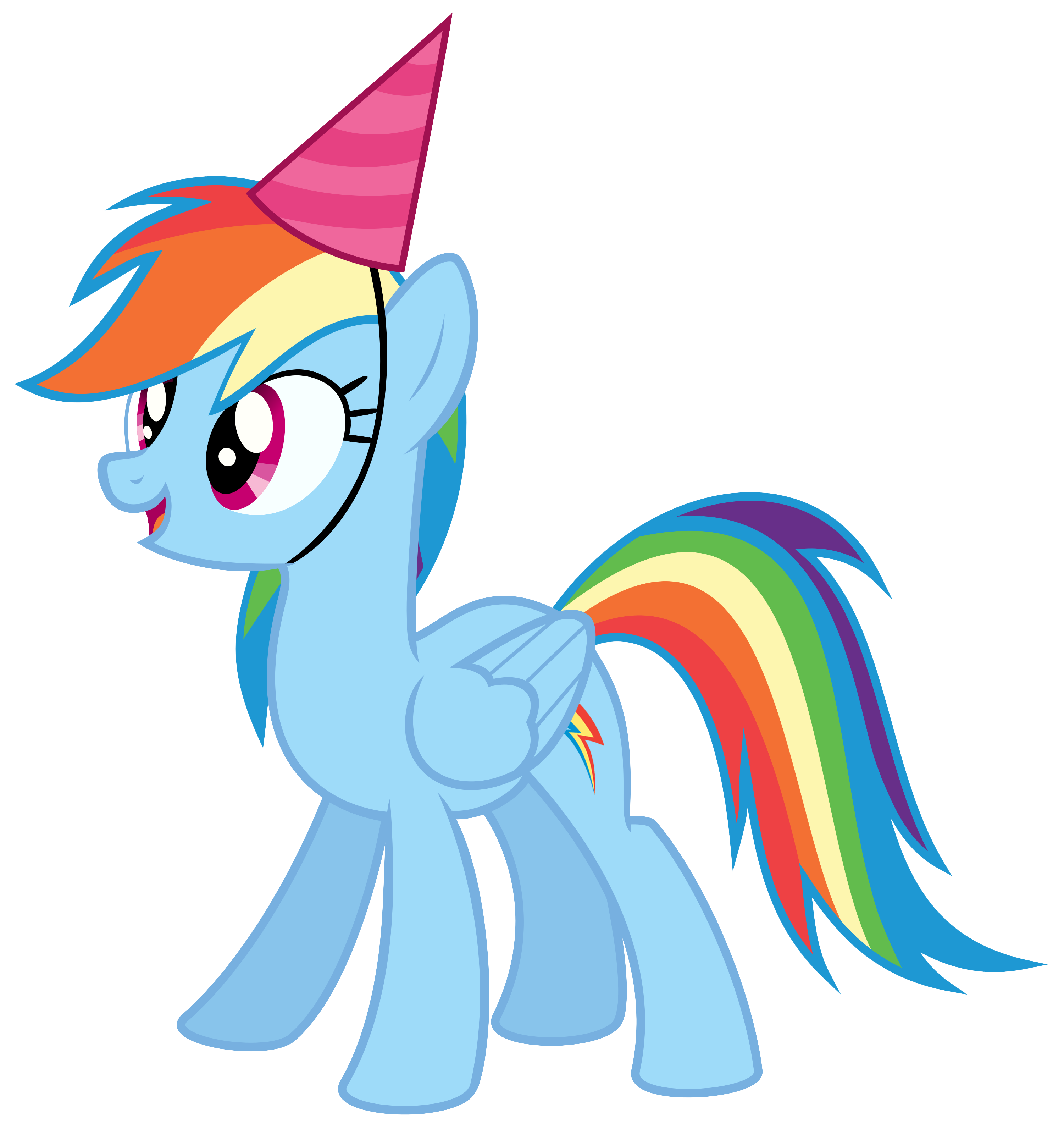Rainbow dash with a. Clipart horse party