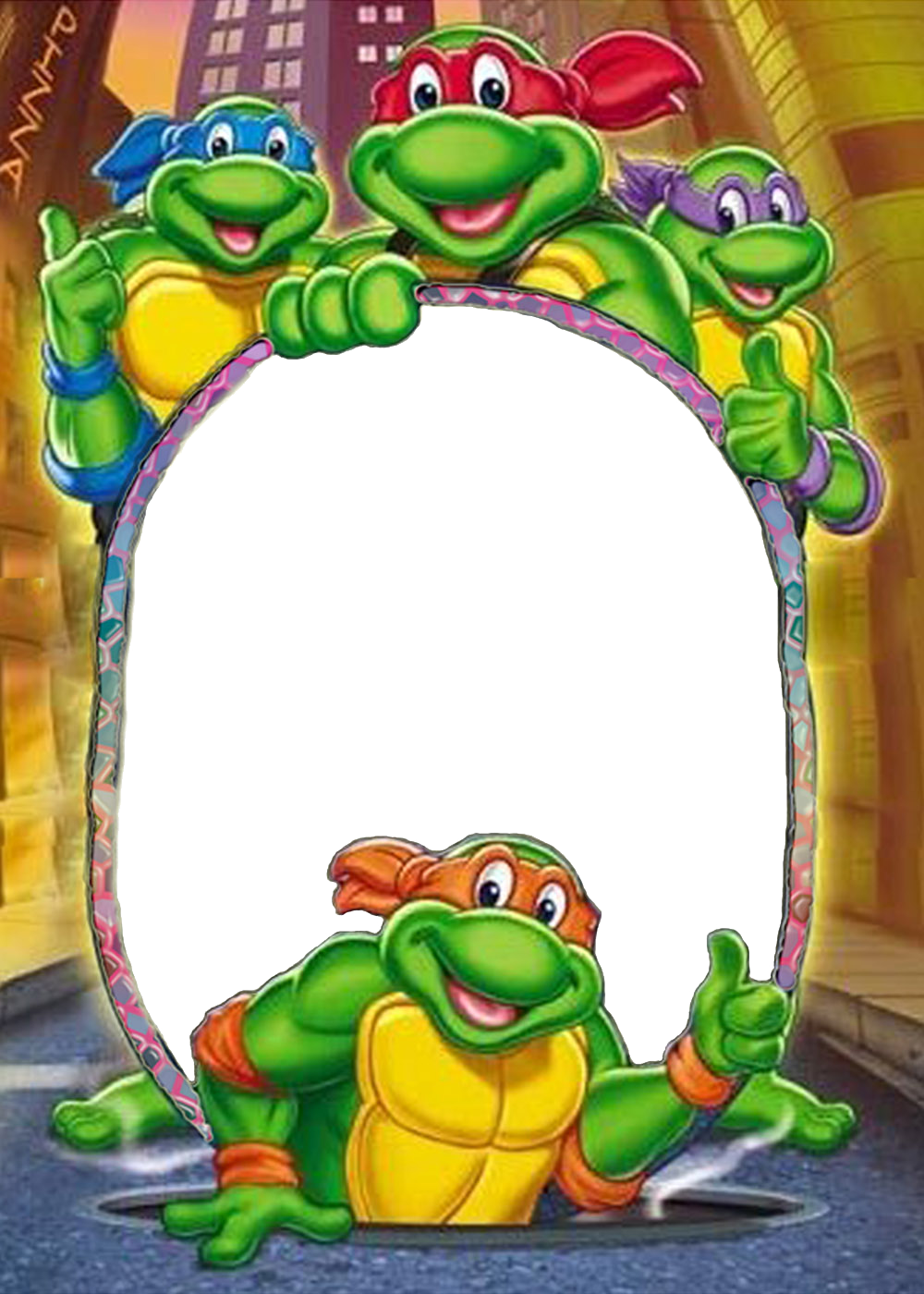 Tartarughe ninja cerca con. Clipart turtle frame