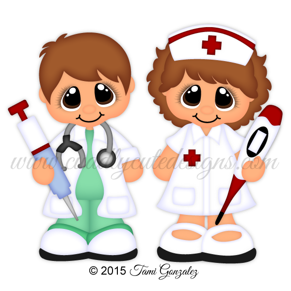 Clipart doctor robot. Career cuties nurse dollies