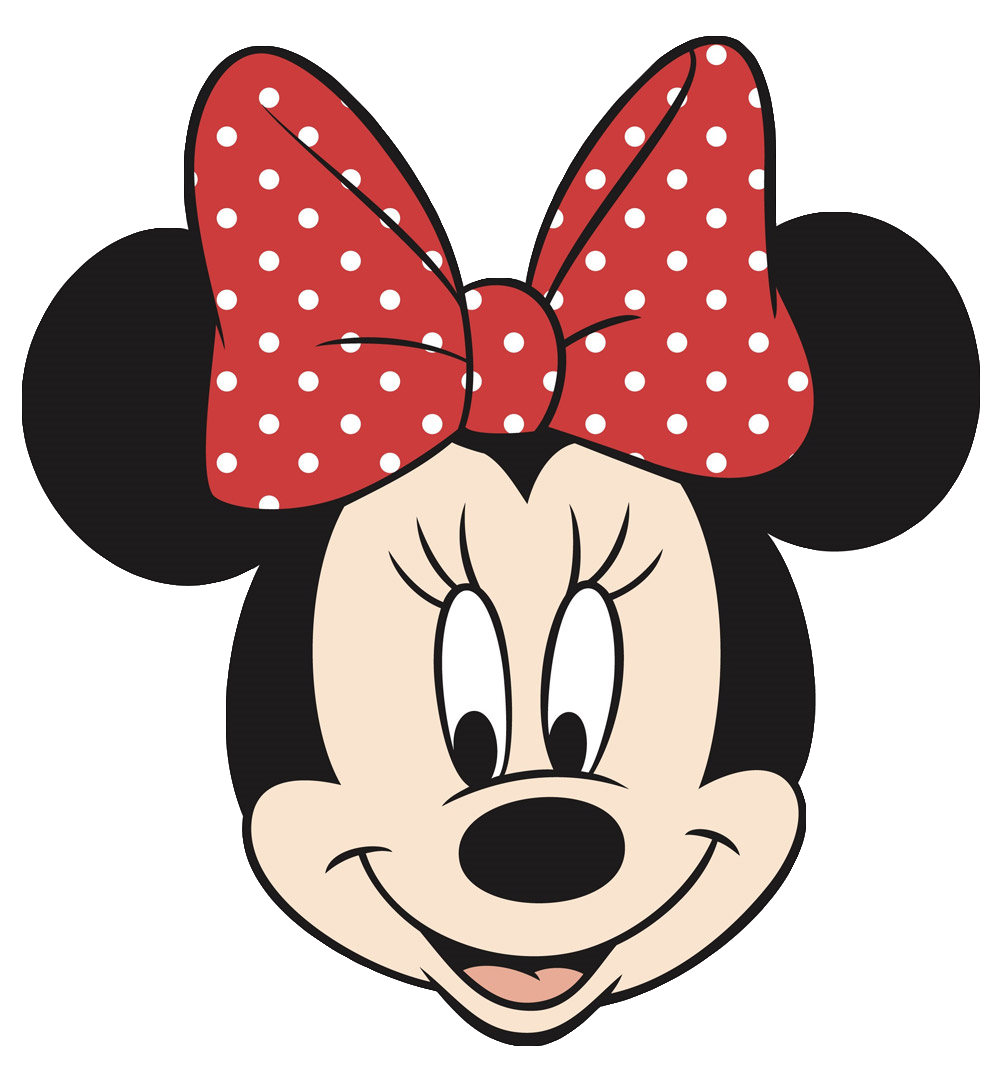 Number 1 clipart face. Minnie mouse cake template