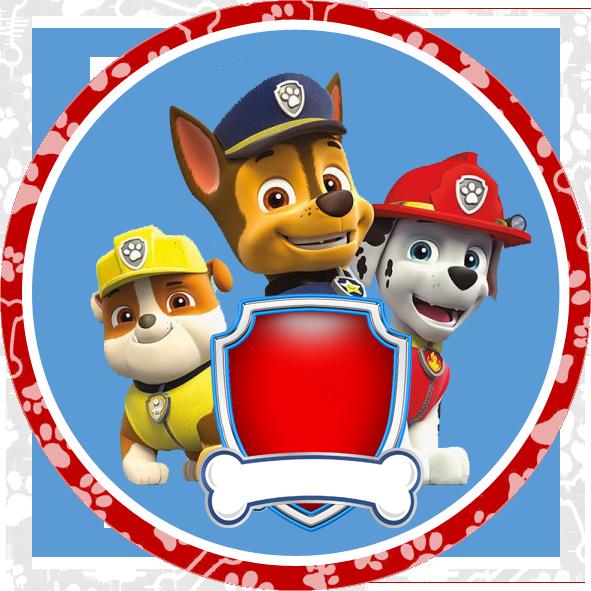 En azul y rojo. Clipart cars paw patrol