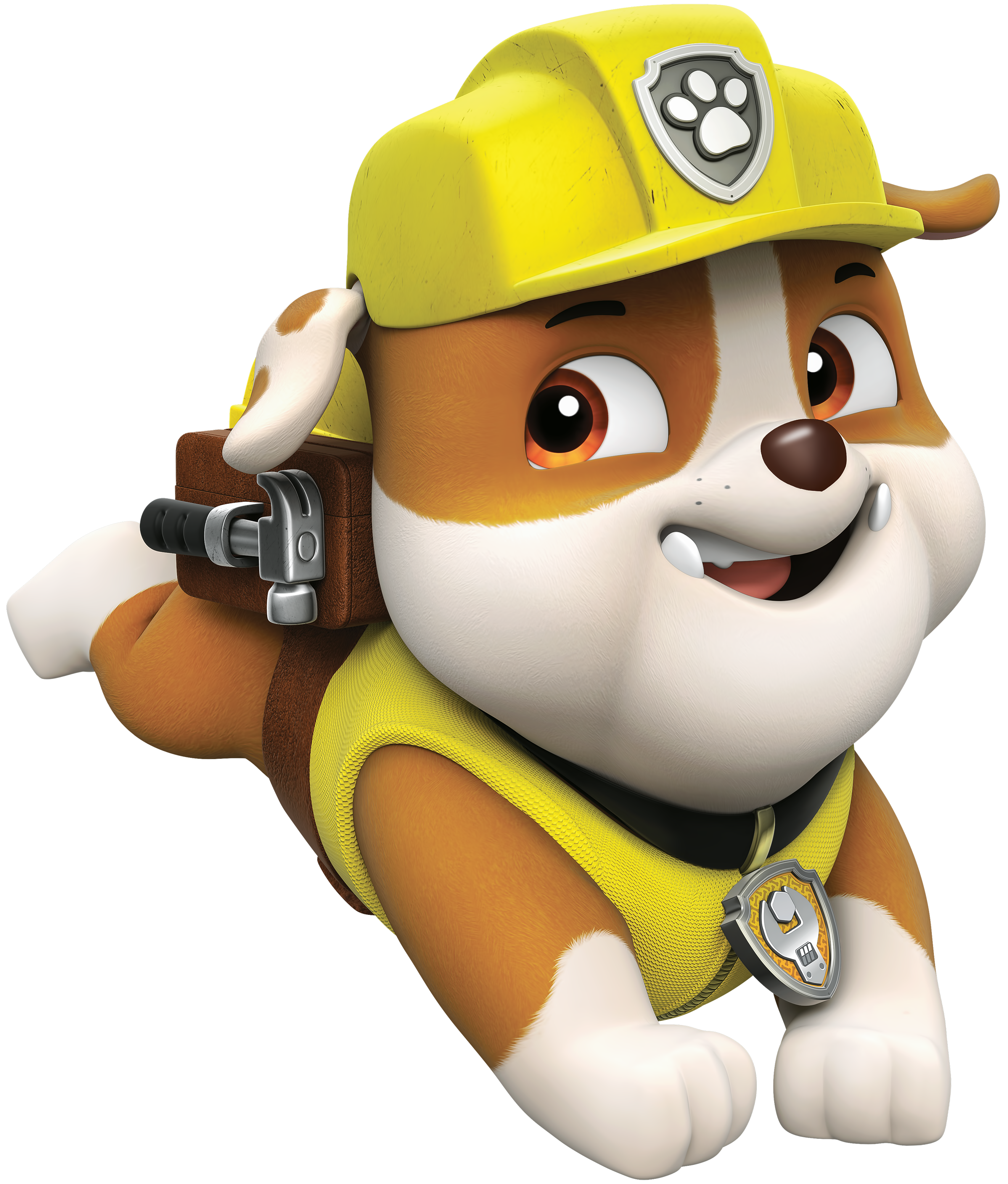 Rubble png cartoon image. Paw clipart paw patrol