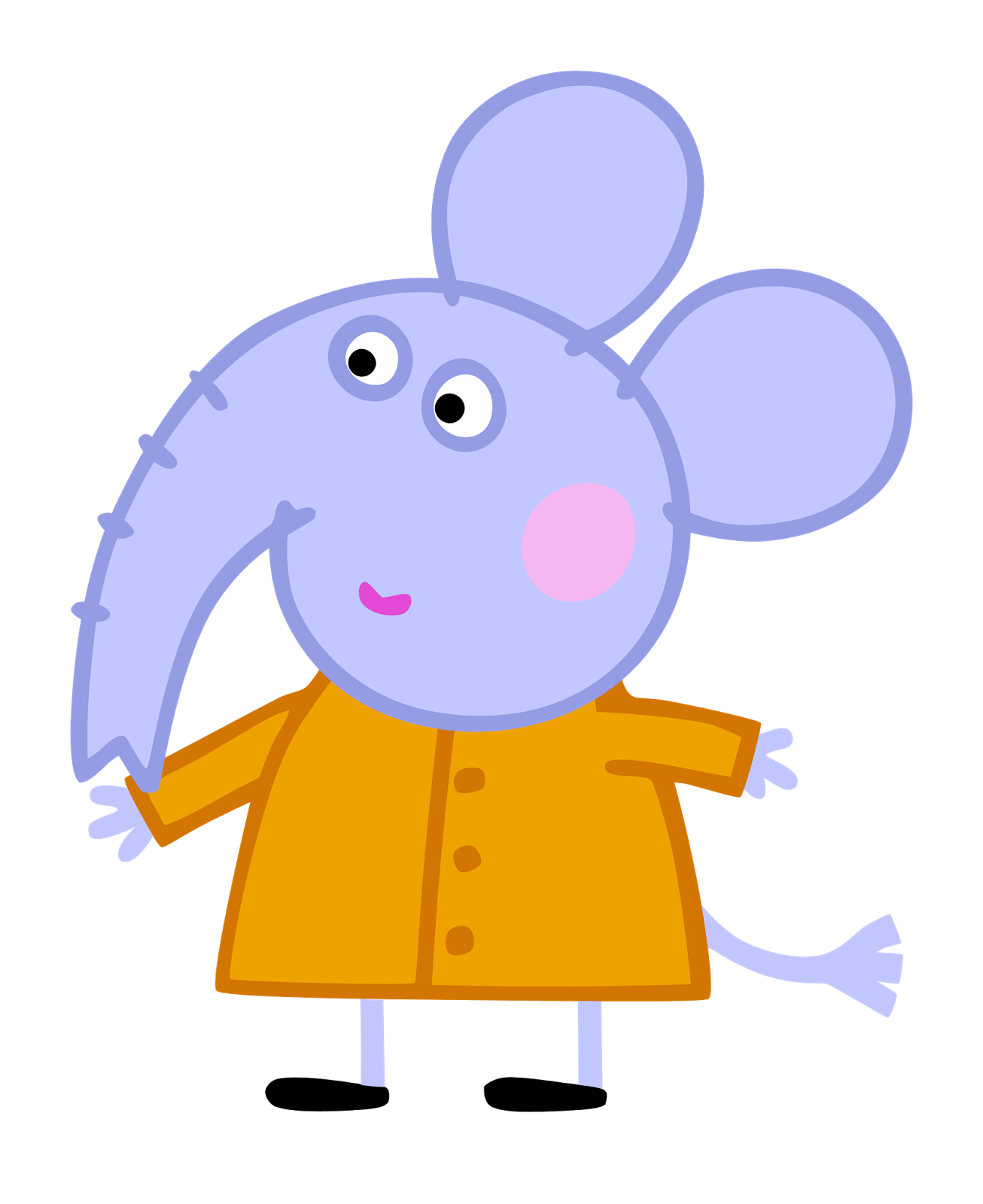 Image emily png peppa. Clipart bunny elephant