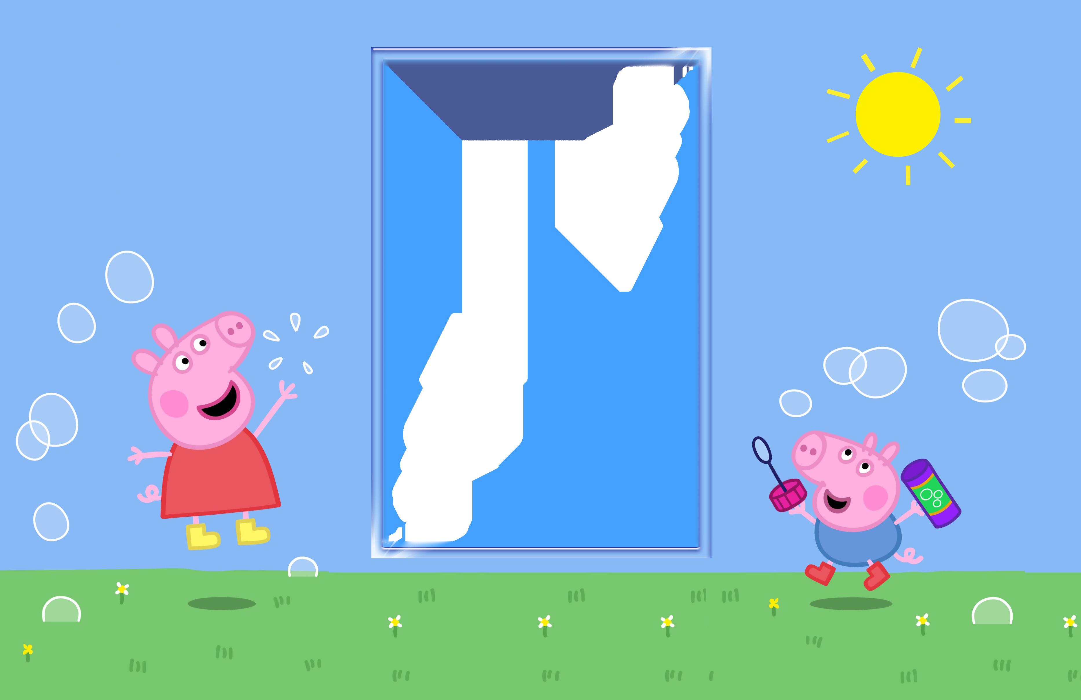 Peppa kids transparent png. Pig clipart easter