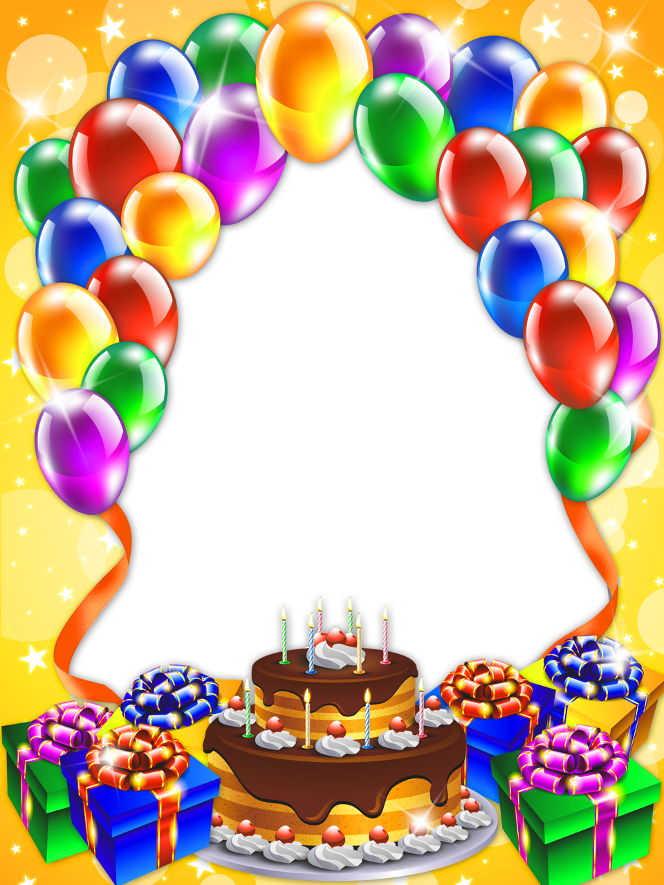 Happy birthday frame png. Transparent gallery yopriceville high