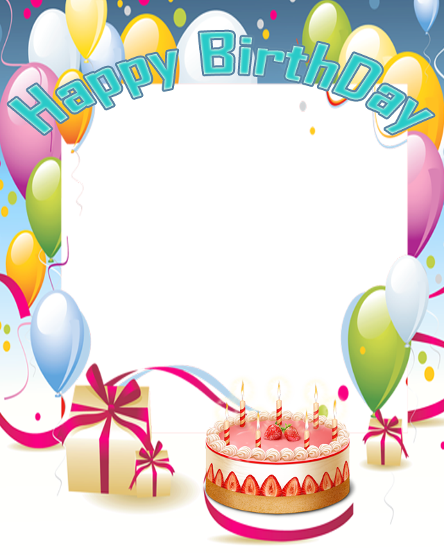 clipart birthday picture frame