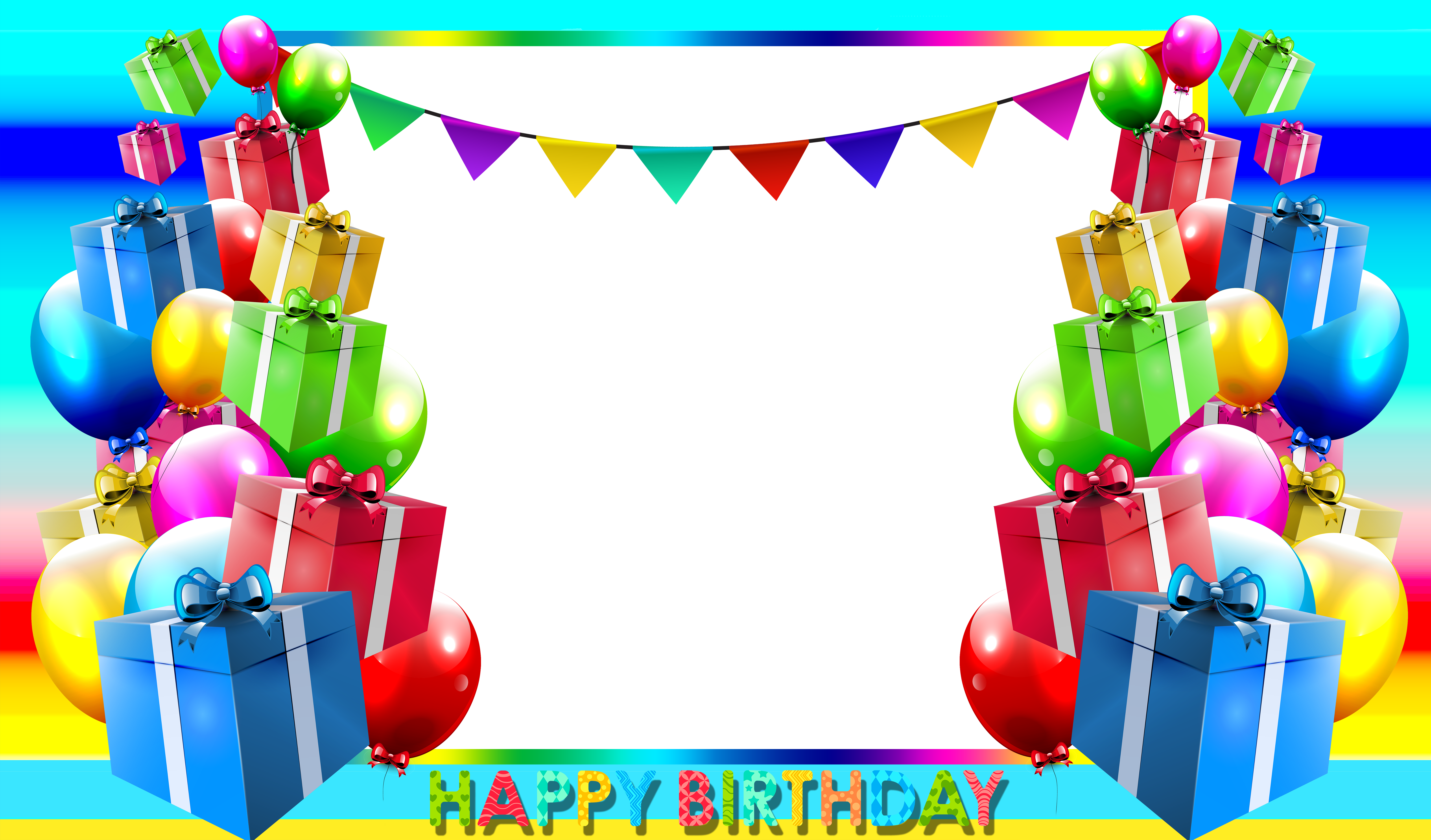 Happy png blue photo. Clipart birthday picture frame