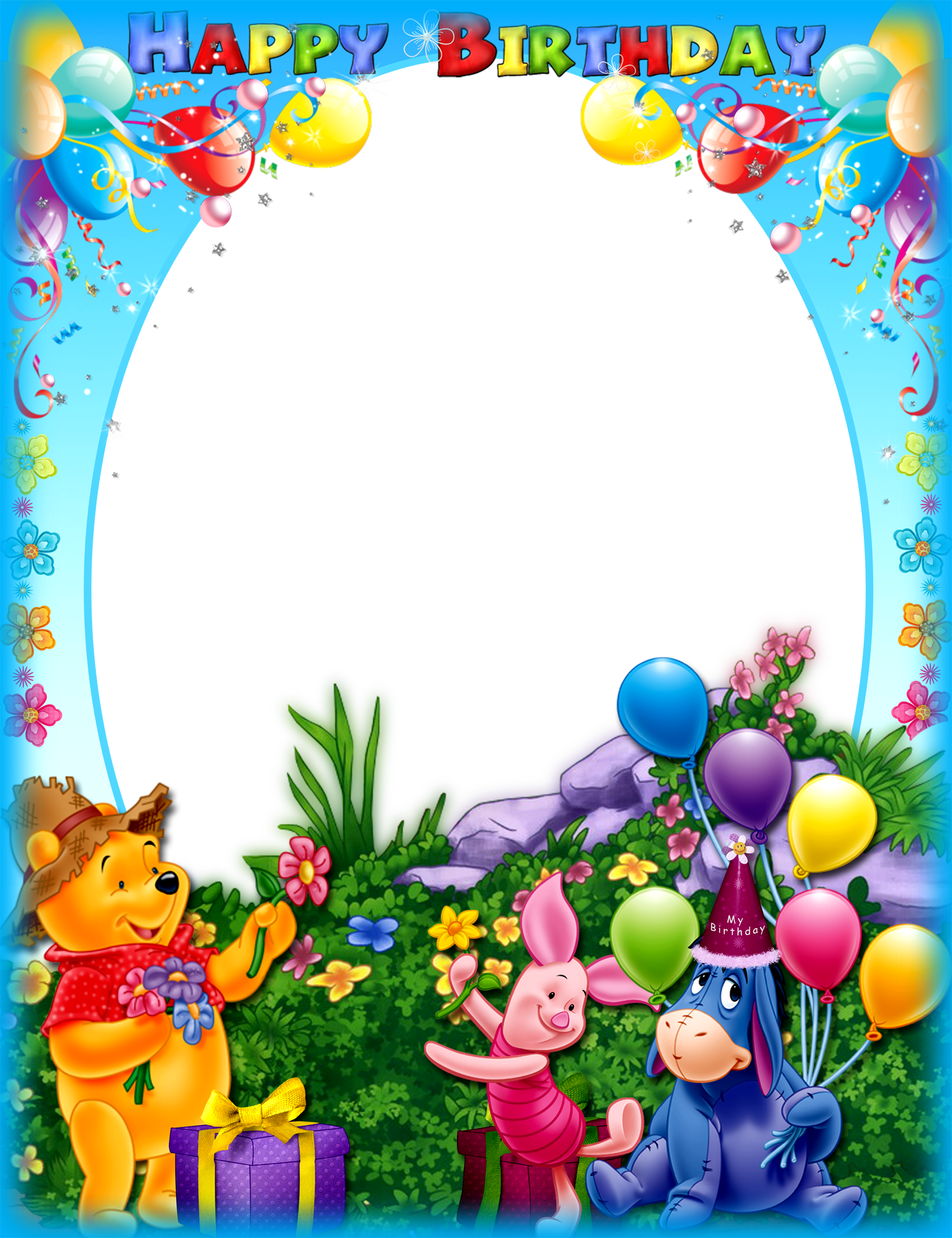 Images free download with. Happy birthday frame png