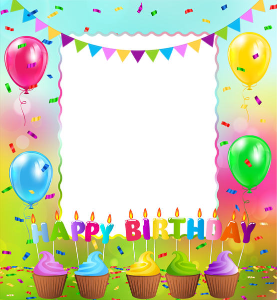 Clipart birthday picture frame. Happy png gallery yopriceville