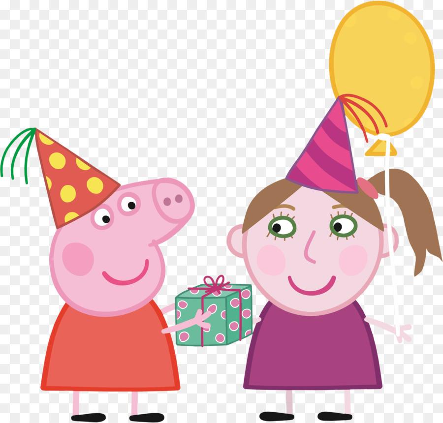 Cartoon cake party . Clipart birthday pig