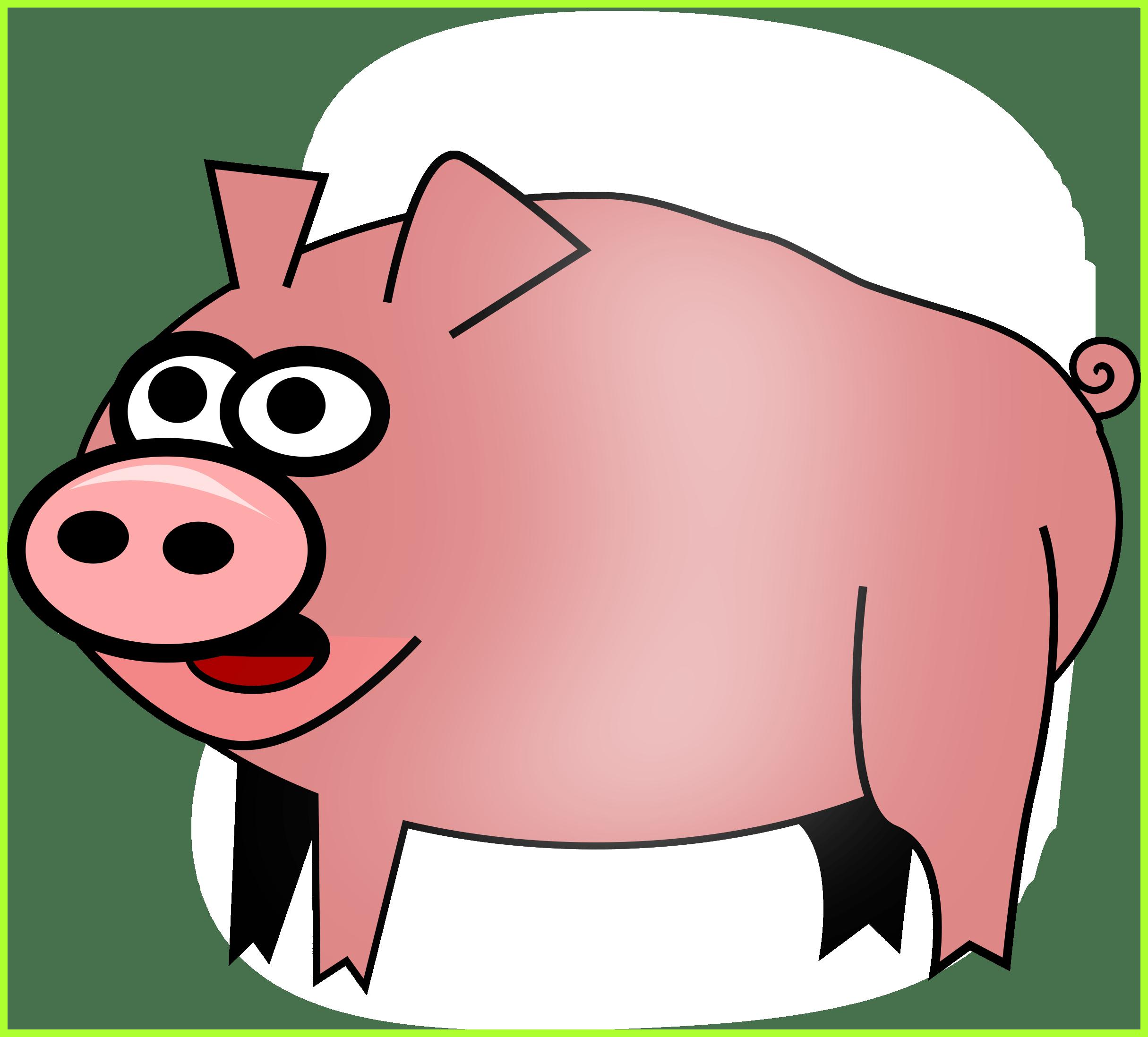 Clipart birthday pig. Cute clip art alternative