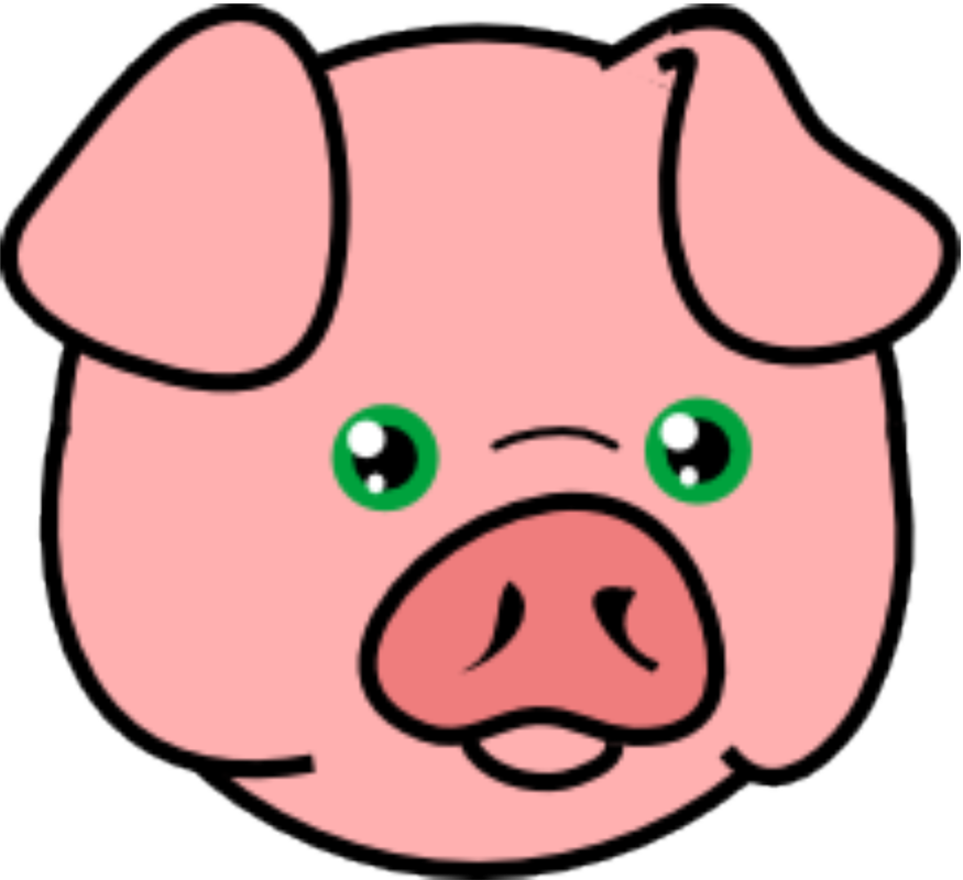 Png modern clip art. Clipart birthday pig