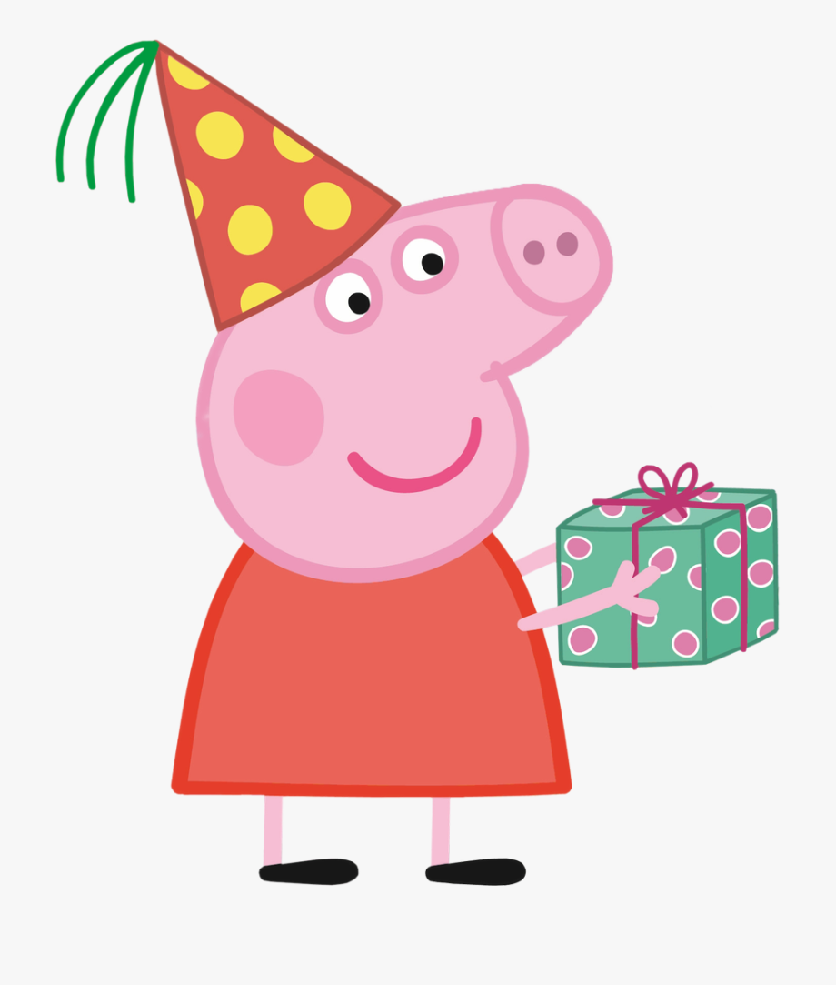 Clipart birthday pig. Peppa png transparent