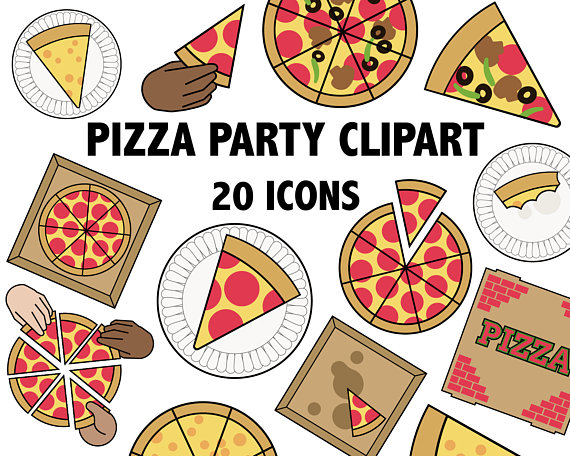 Printable images parlor . Party clipart pizza party