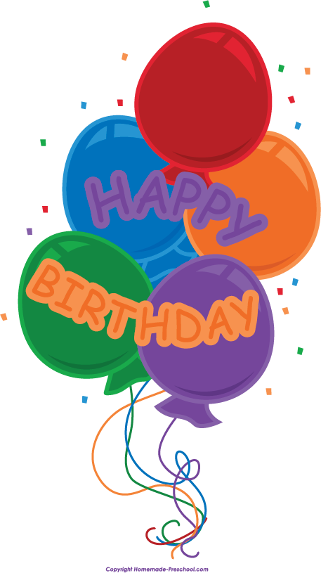 Free click to save. Scrapbook clipart happy birthday
