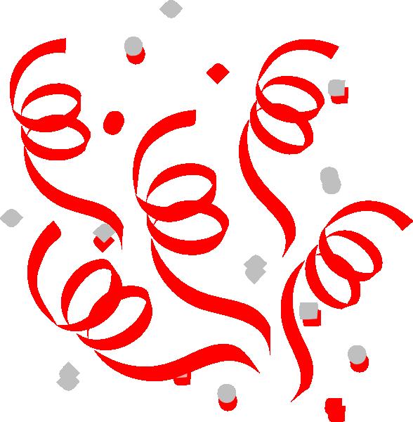 Birthday red . Confetti clipart small