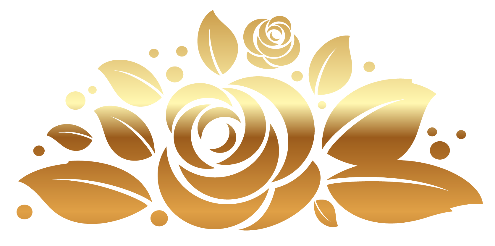Rose decor clipart picture. Gold flower png
