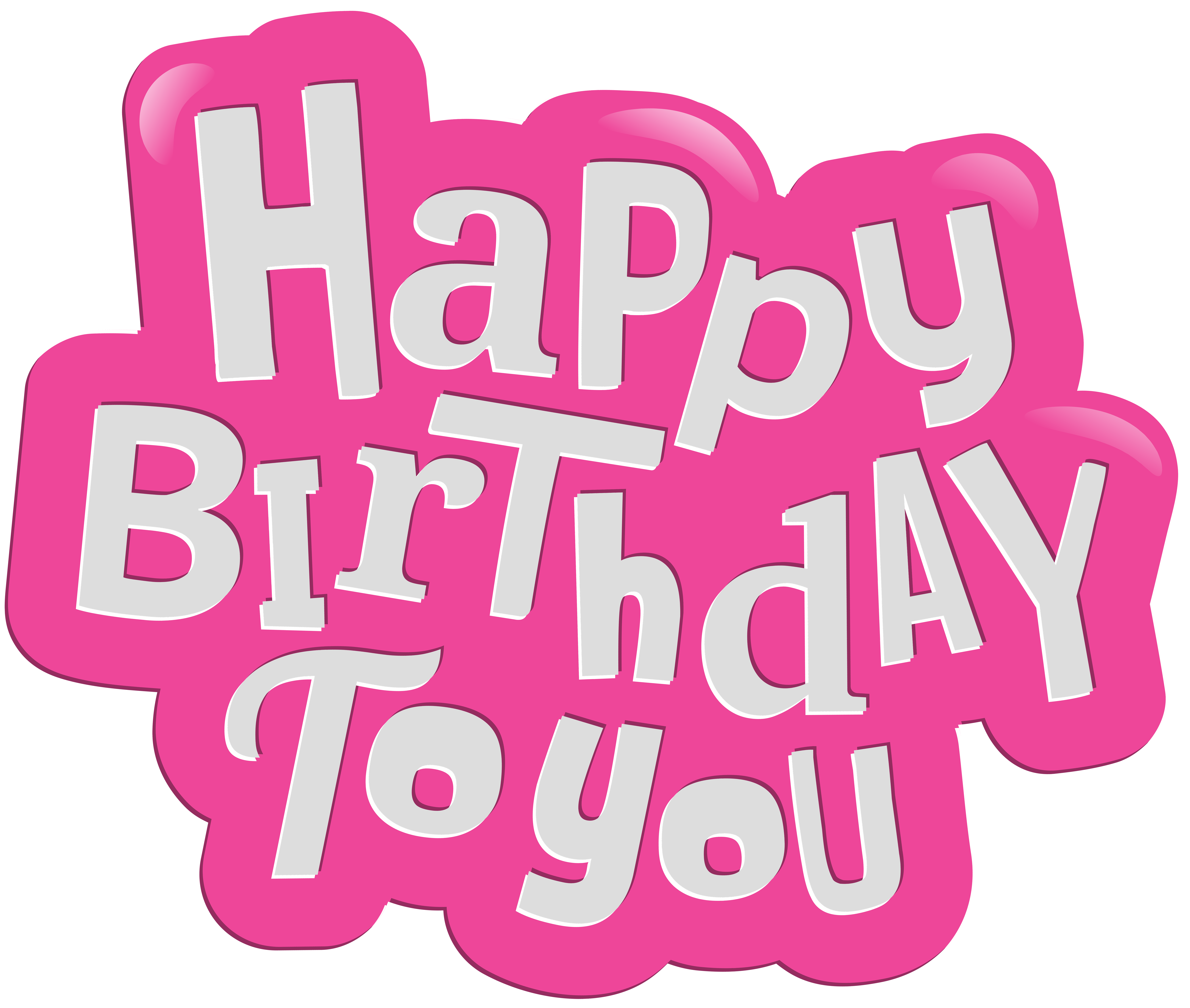Happy birthday to you. Clipart halloween pink