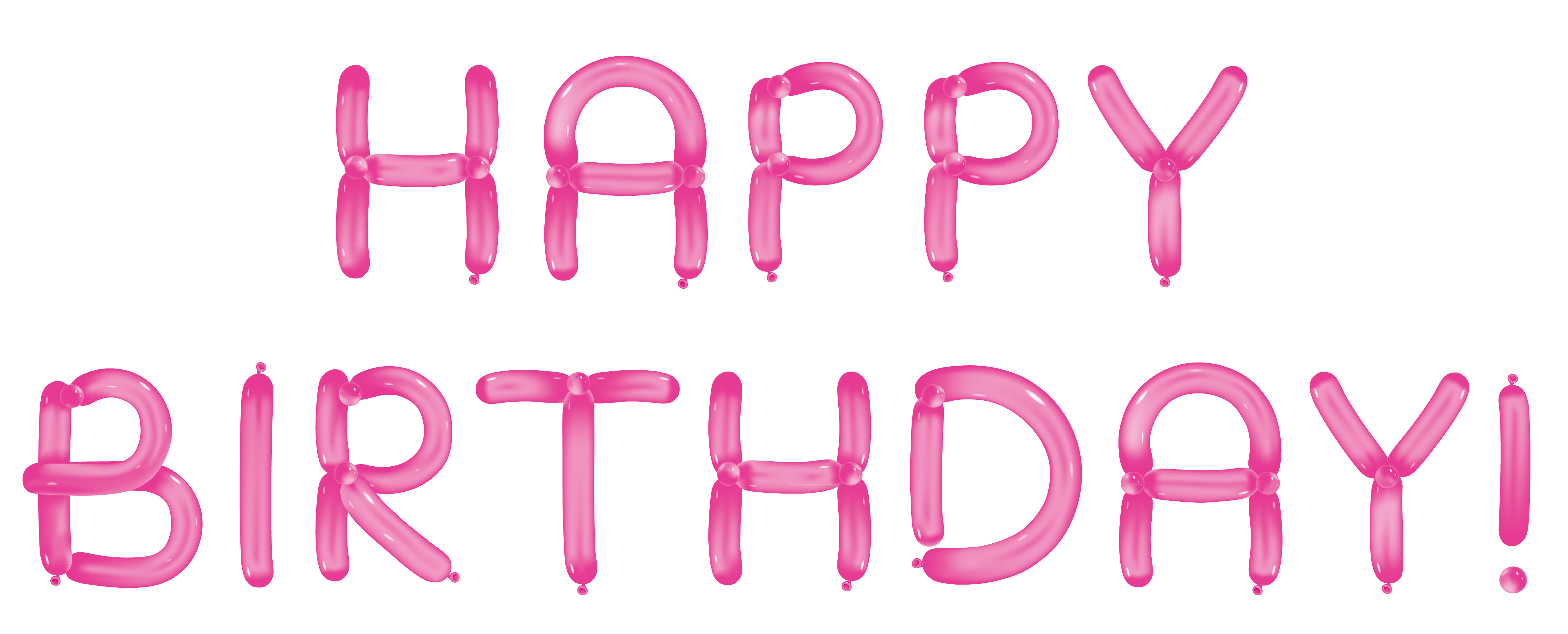 Happy with pink balloons. Clipart rose birthday