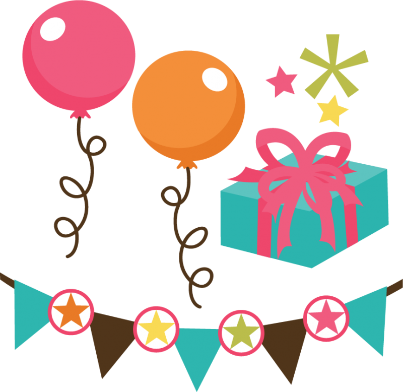 Png file set svg. Scrapbook clipart happy birthday