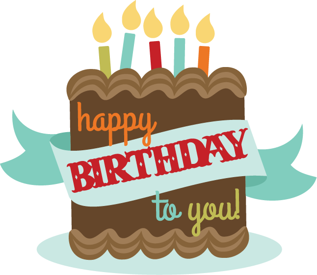 Scrapbook clipart happy birthday. To you title svg