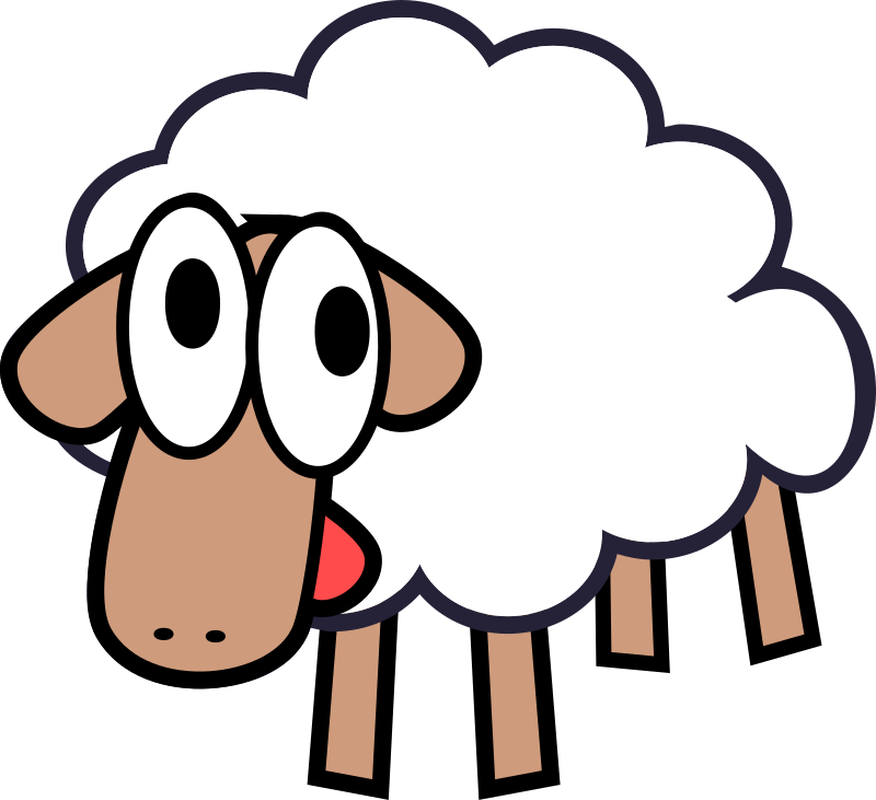 sheep clipart dancing