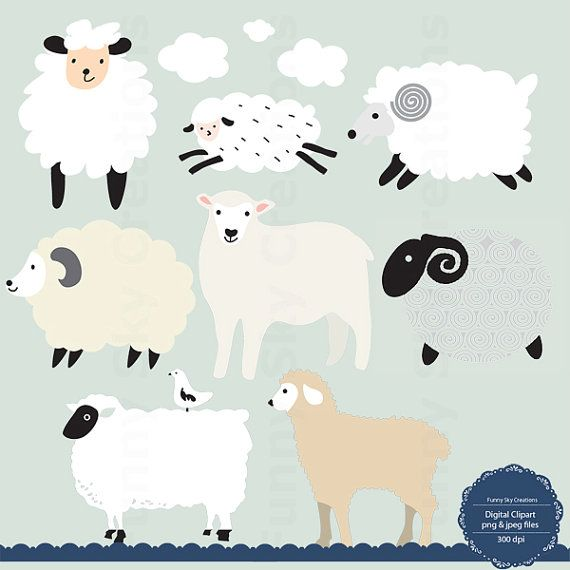 Clipart sheep craft. Instant download little lamb
