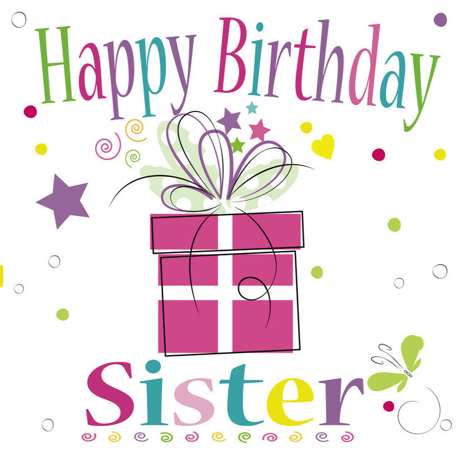Download happy quotes . Clipart birthday sister