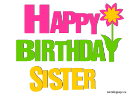 Image result for free. Clipart birthday sister