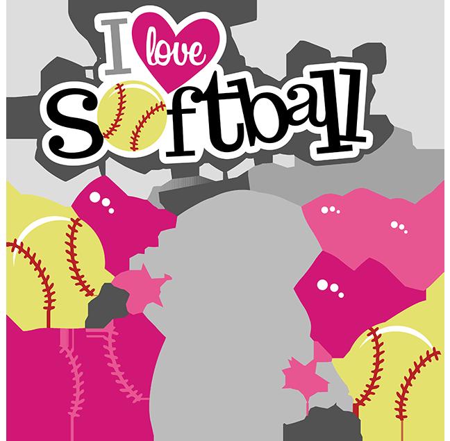 Cute softball . Italy clipart love