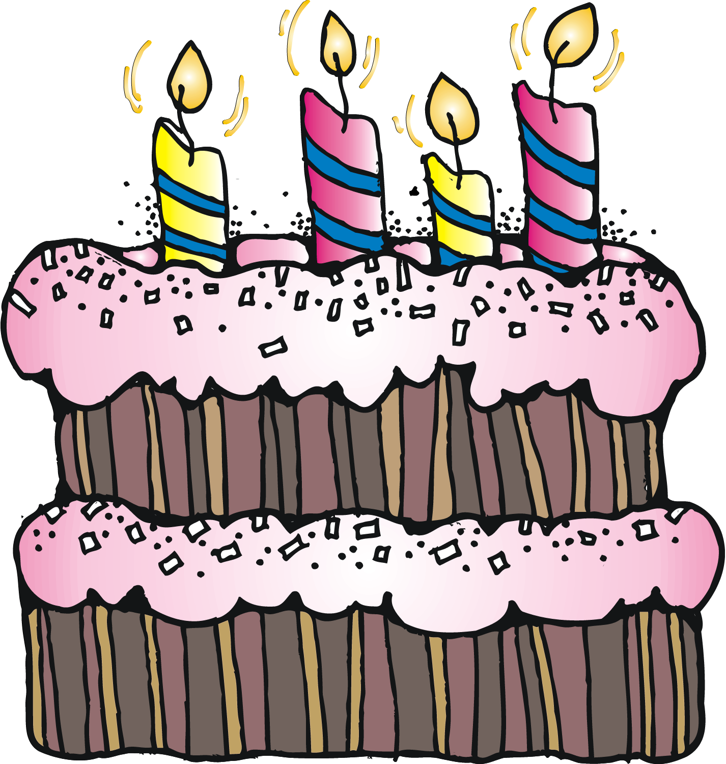 Dibujo que puede servir. Clipart birthday stamp