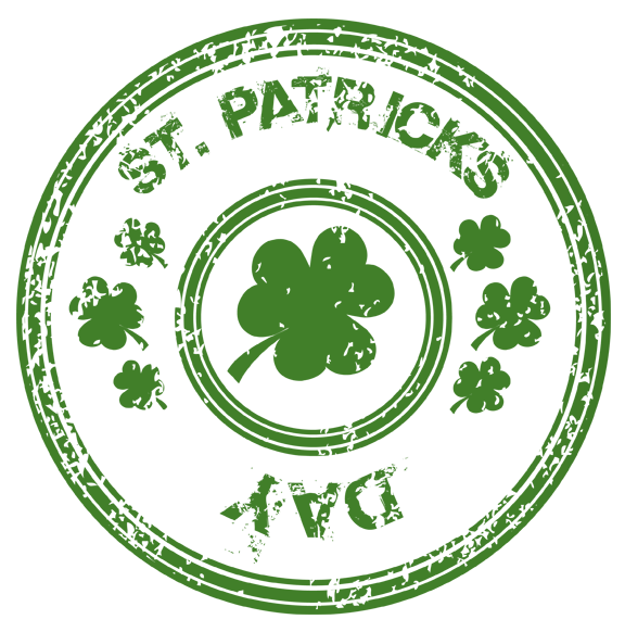 St patricks day with. Clipart birthday stamp