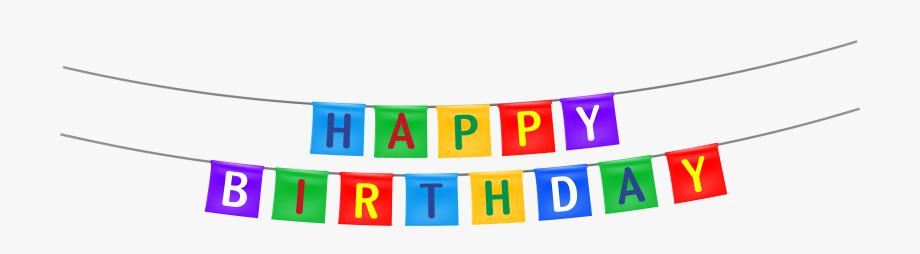Happy birthday streamer png. Streamers clipart party banner
