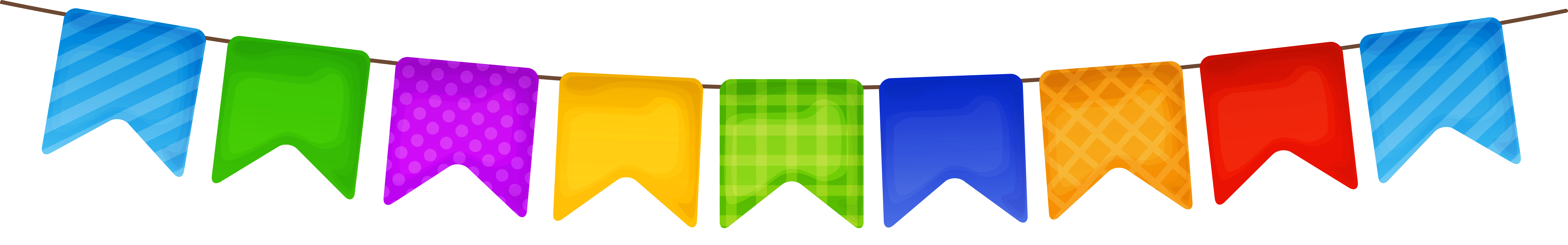 Colorful png picture gallery. Clipart birthday streamer
