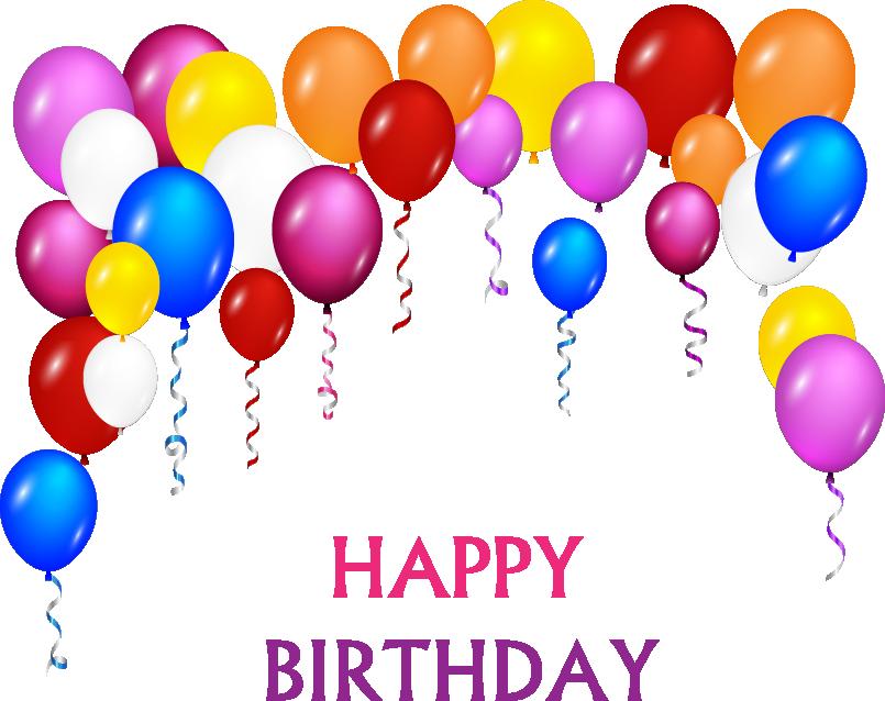 Clipart birthday streamer. Cake balloon clip art