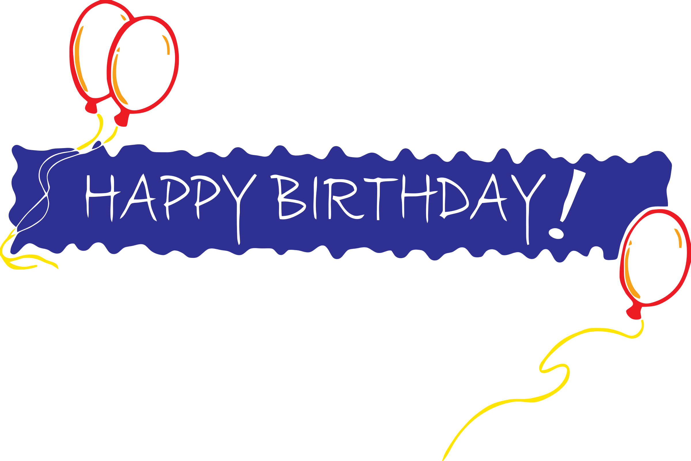 Birthday big image png. Congratulations clipart banner
